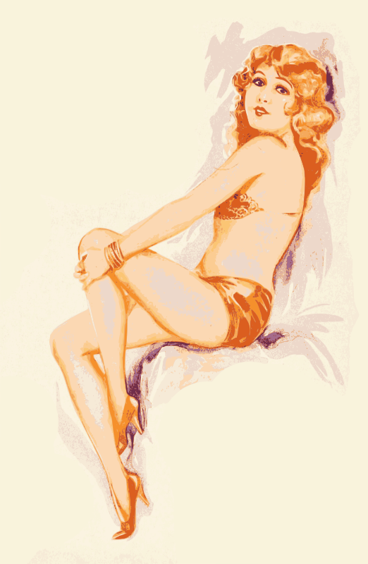 Pinup Lady 1920s