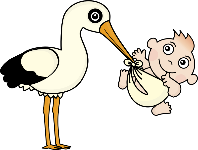 Stork and Baby (#2)