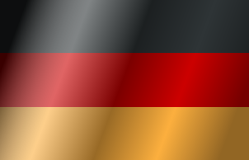 Flag of Germany (with wind)