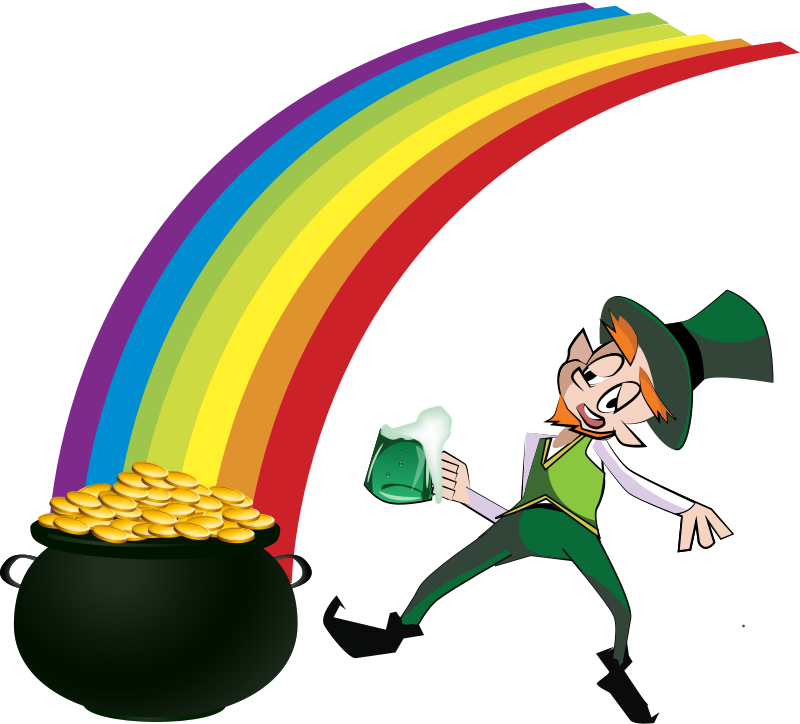 Leprechaun and Rainbow