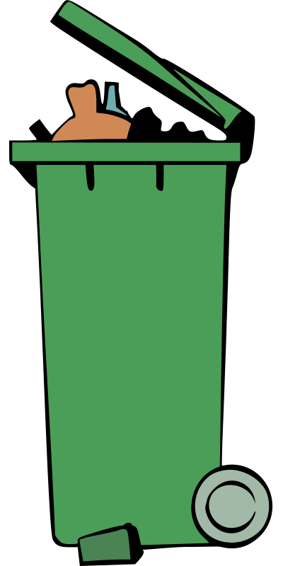 Rubbish Bin - Colour