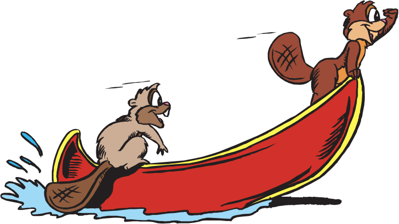 Beavers in Canoe
