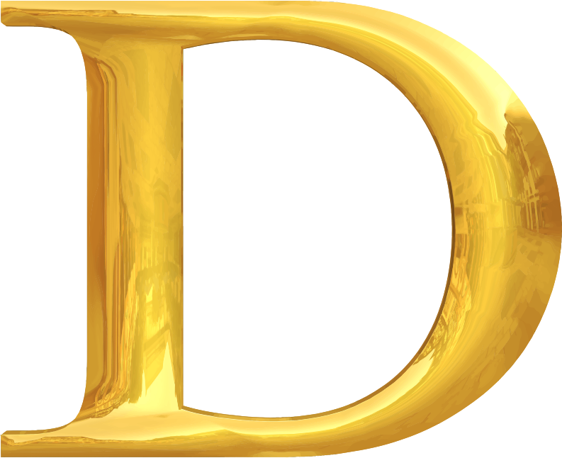 Gold typography D