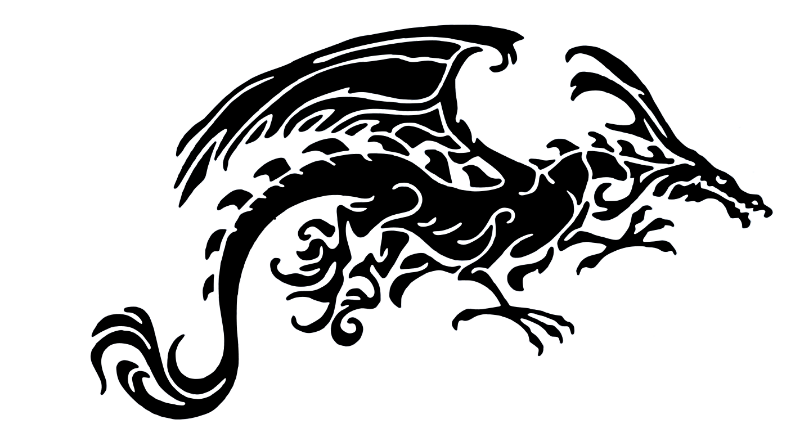 Black Tribal Dragon
