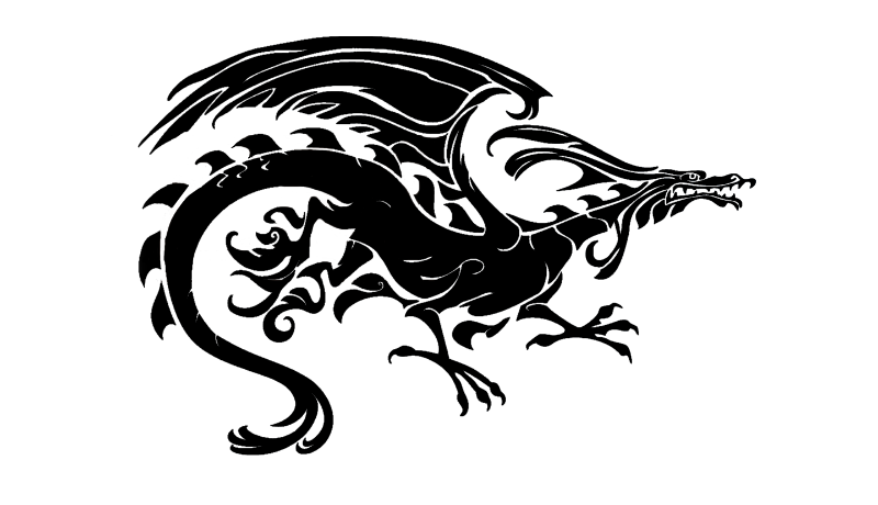 Upright Tribal Dragon