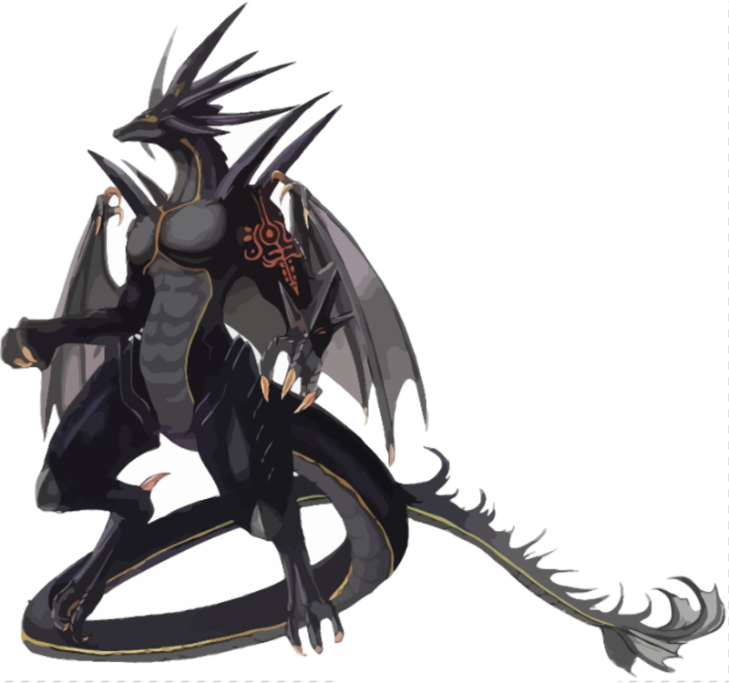 Mighty Black Dragon