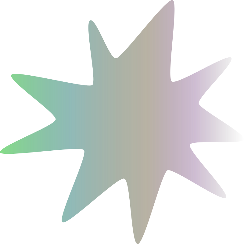Gradient coloured star