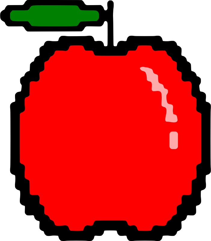 Simple red apple