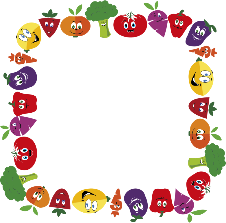 Anthropomorphic Fruits And Vegetables Frame 2 Large