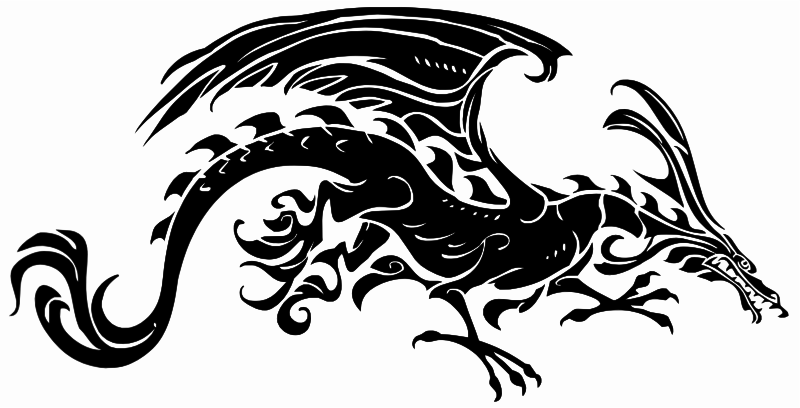Downright Tribal Dragon