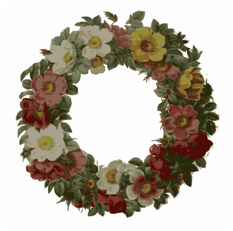 Redoute - Rose wreath - color