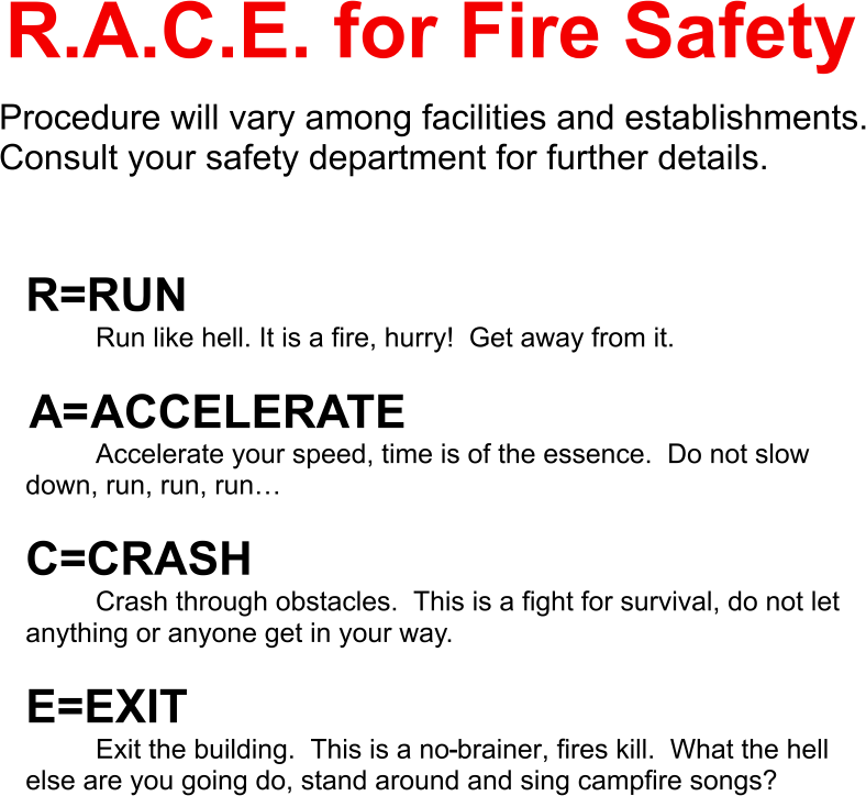 RACE for Fire Safety 2