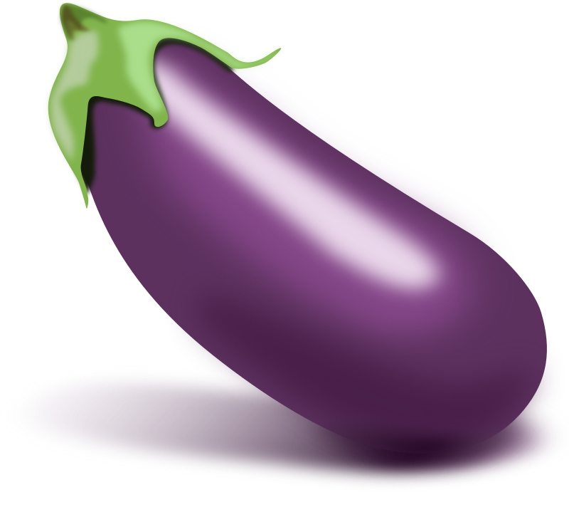 Isolated Eggplant