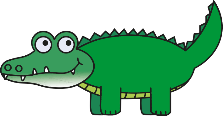 Cartoon Alligator Clip Art