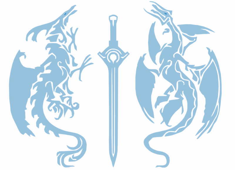 Ocean Tribal Dragons Sword