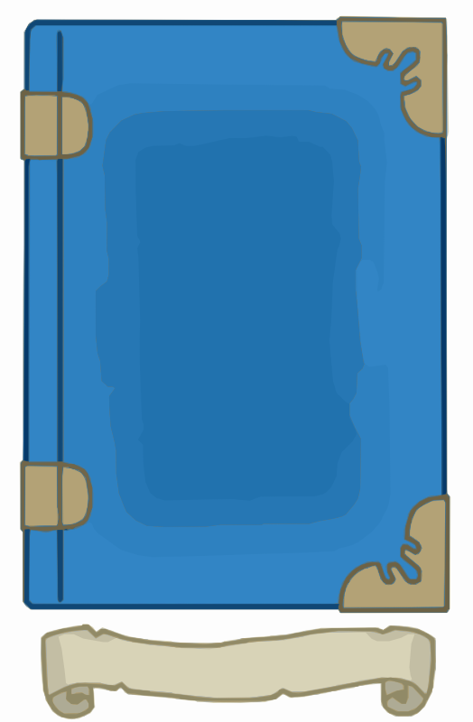 Blue and Gold book template