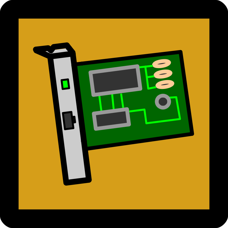 Network Interface Card Icon [Umber]