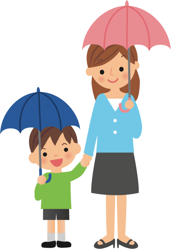 Umbrellas with Mother