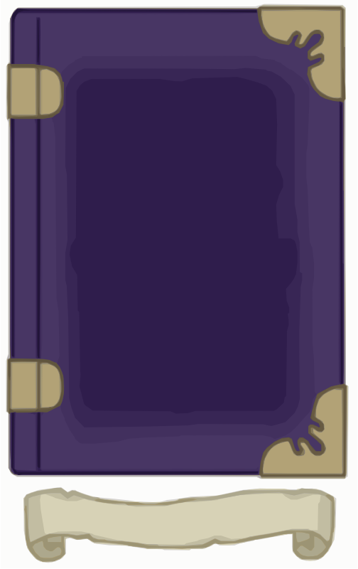 Purple and Gold Book Template