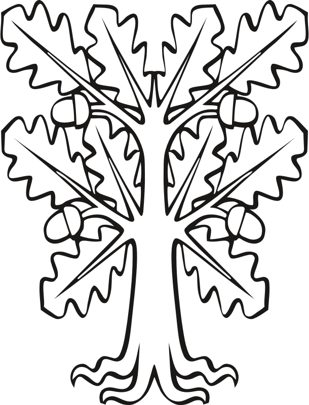 Stylised oak (outline)