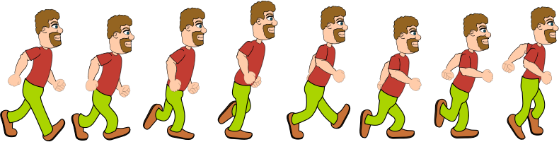 Walking Man Sprite Sheet