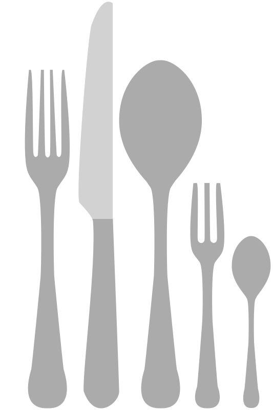Kitchen Cutlery, forks, knives, spoons