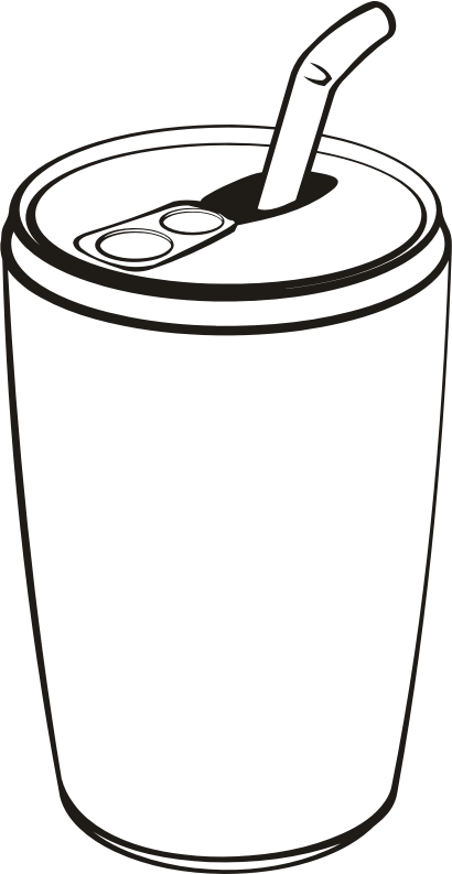 Can of drink (outline)