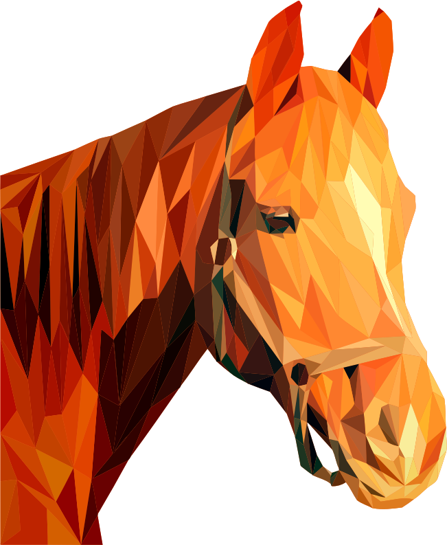 Low poly horse head