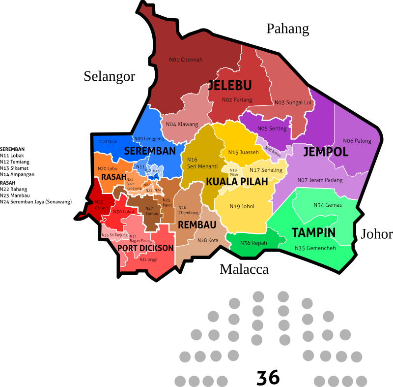Negeri Sembilan State Legislative Assembly Constituencies - 2018