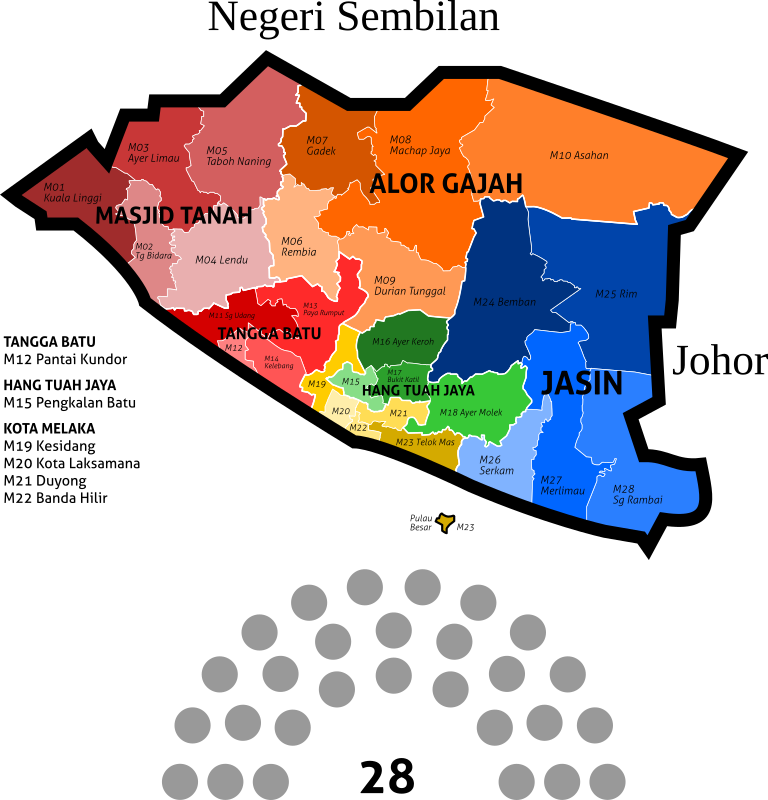 Malacca new electoral map - 2018