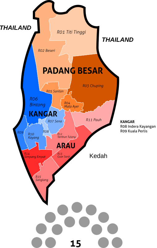 Perlis State Legislative Assembly Constituencies - 2018