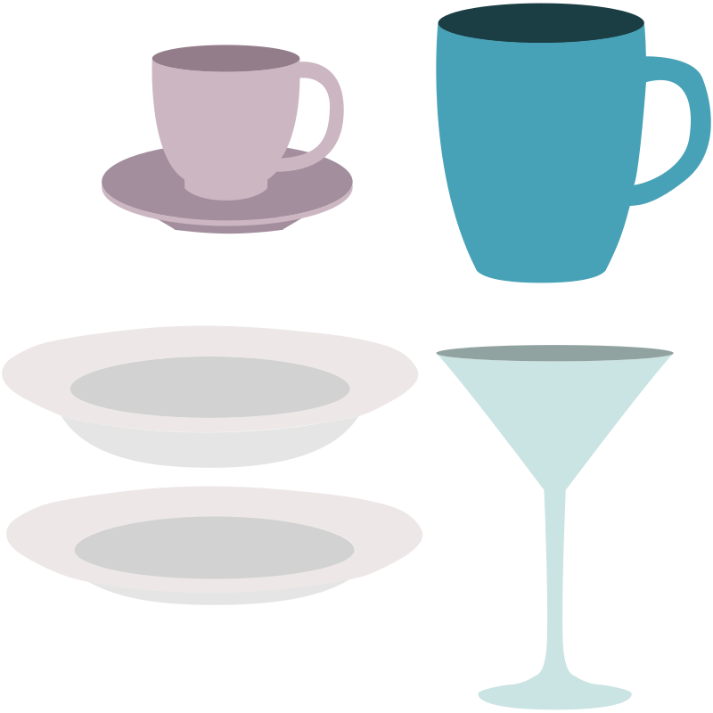 Dishes, cups