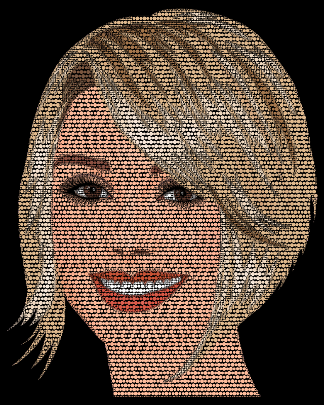 Pretty Blonde Woman By Heblo Circles
