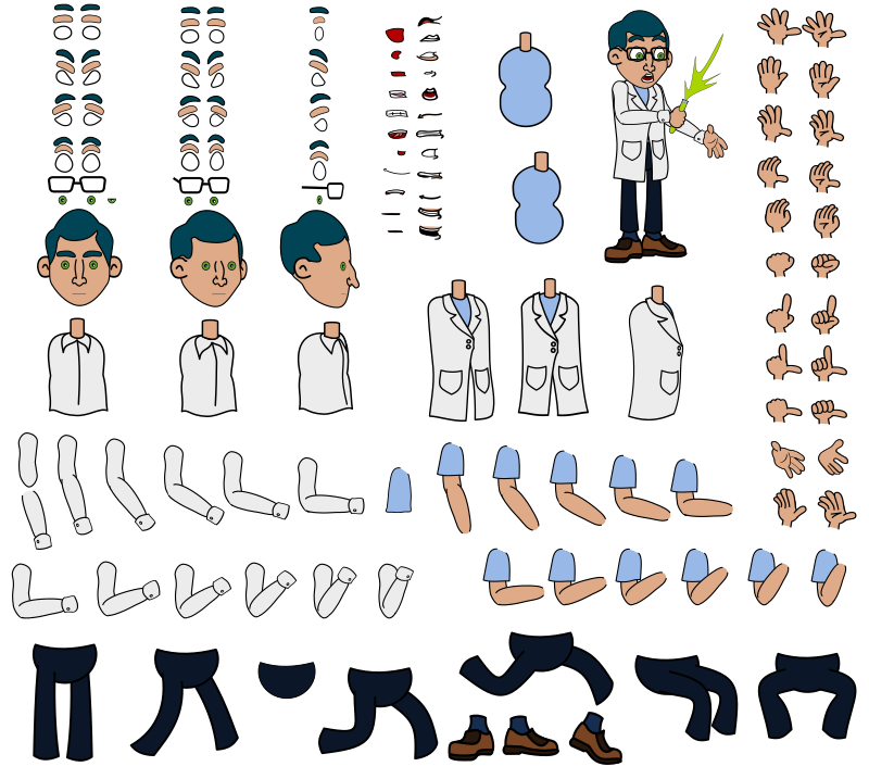 Vexstrips - Professor Blue Character Kit