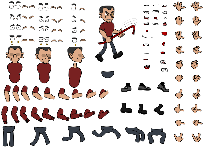 Vexstrips - Butch Character Kit