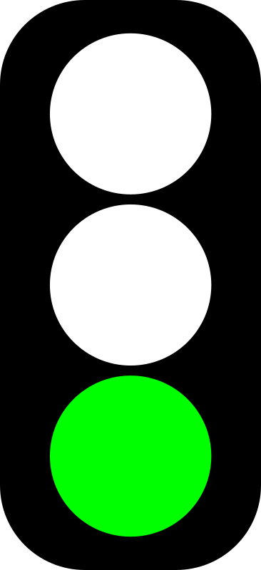 Green traffic light indicator