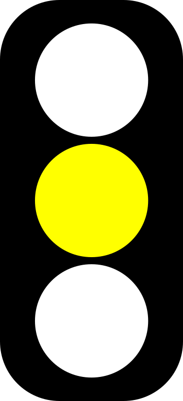 Yellow traffic light indicator