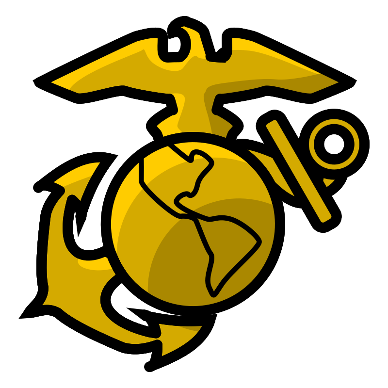 USMC seal simplified, golden version