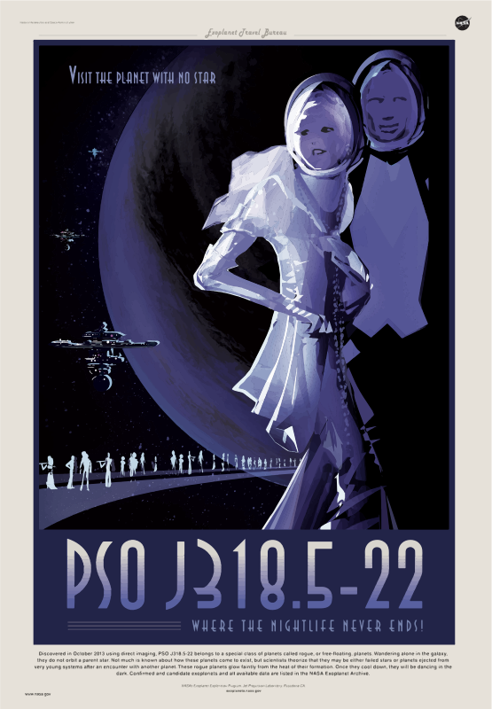 Rogue Planet NASA Poster