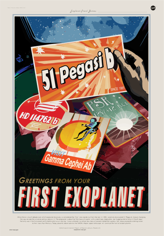 First Exoplanet NASA Poster