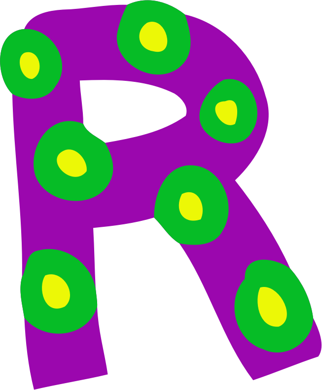 Colourful alphabet - R