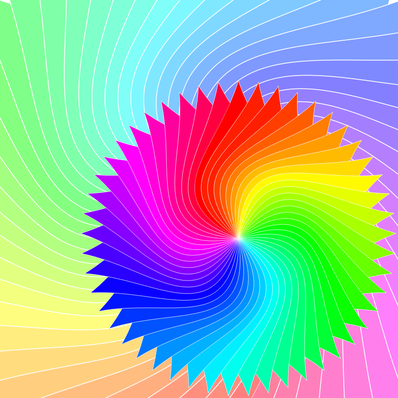Two overlapping rotating Sahasraras with more animation