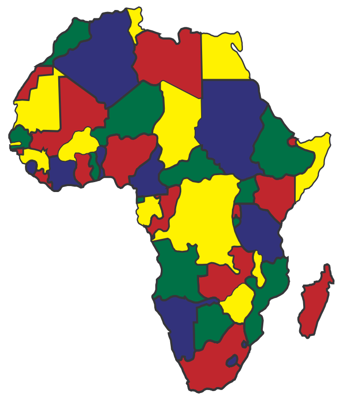 Colourful Map of Africa