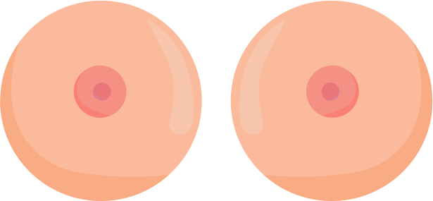 Two Disembodied Breasts