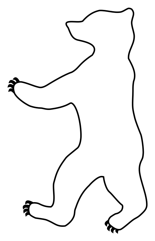 Standing white Bear with claws
