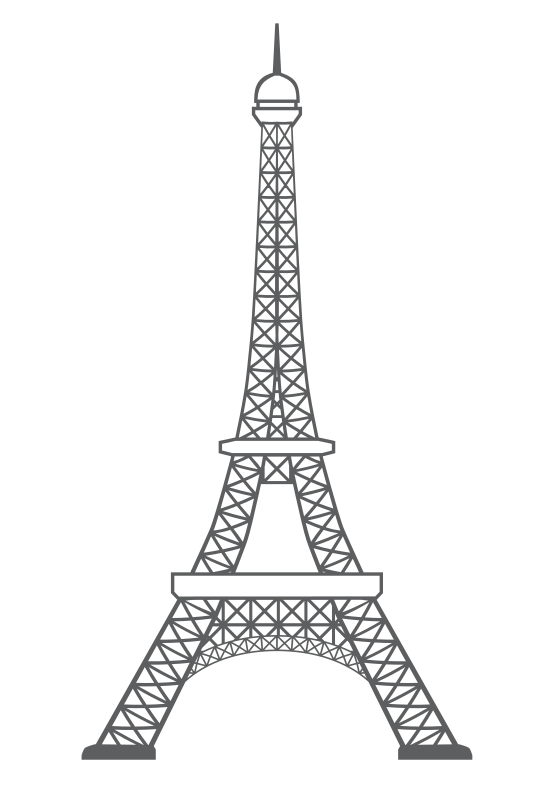 Eiffel tower outline icon monument