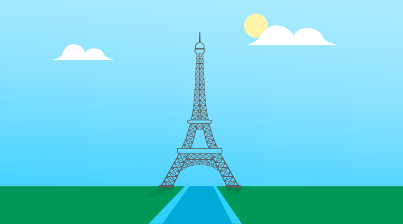 Eiffel tower with background