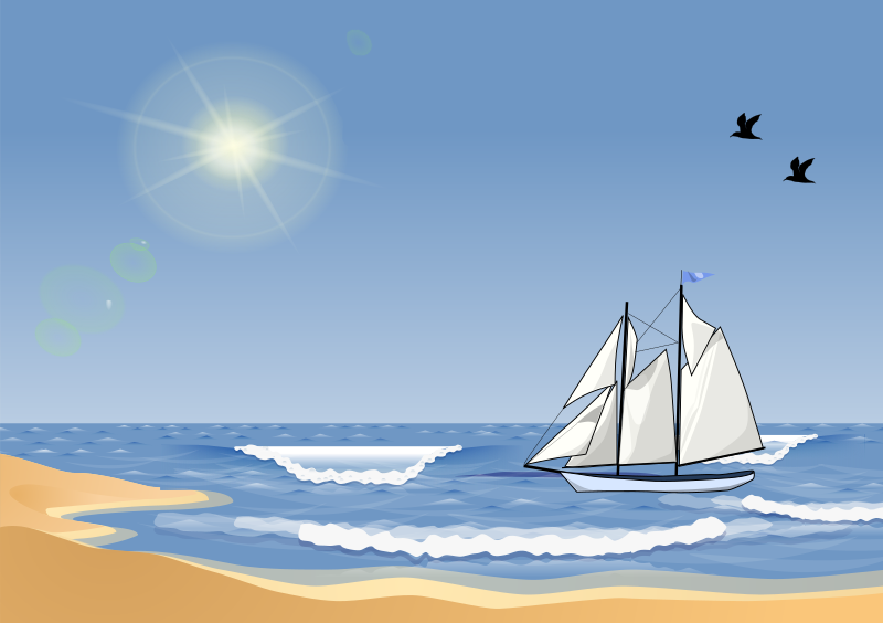 Sailboat at a Beach