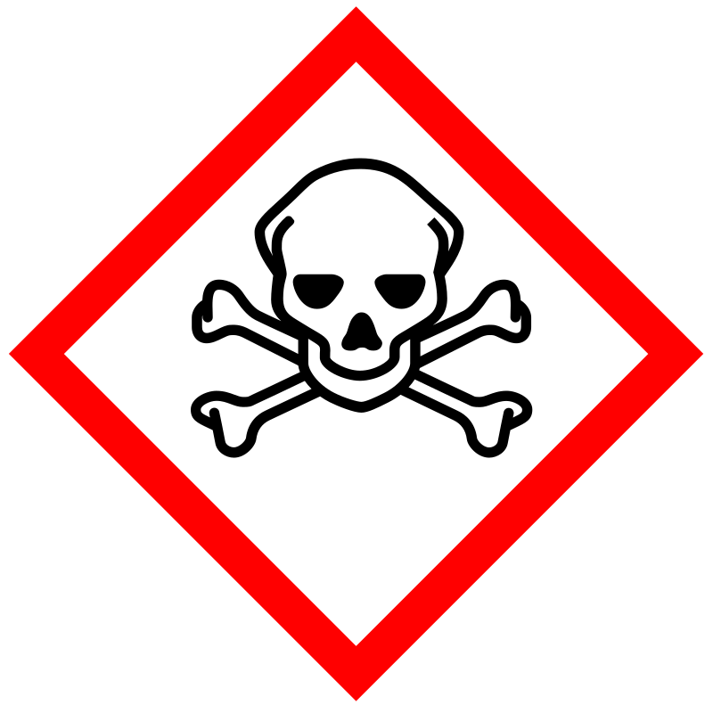 GHS pictogram for toxic substances