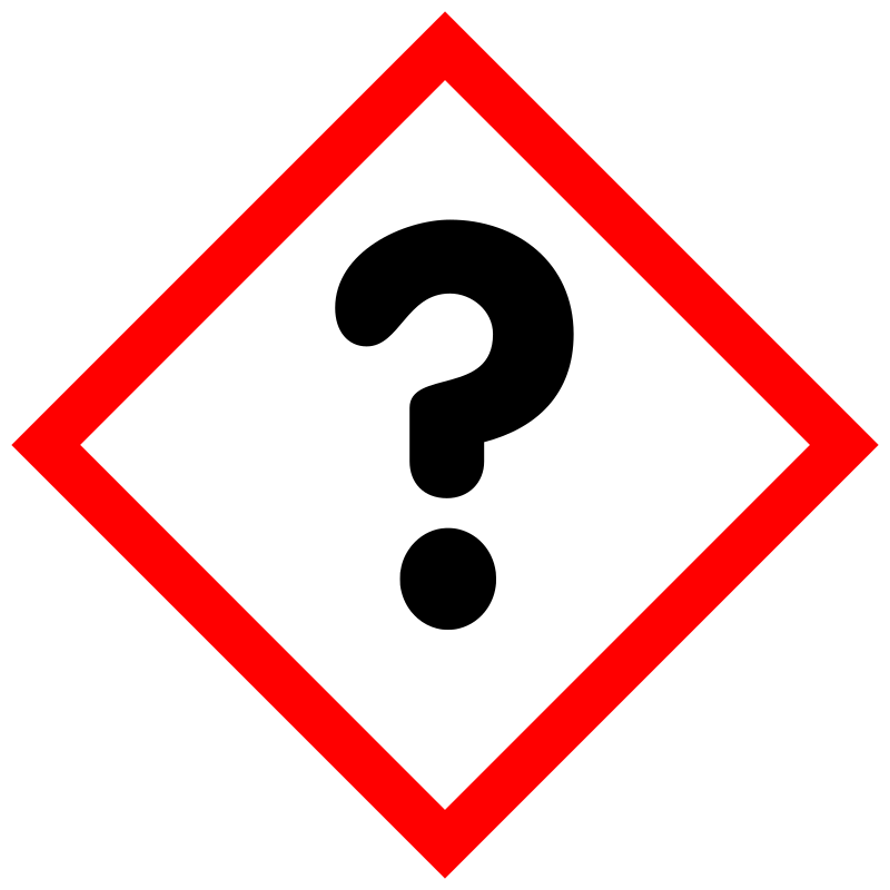 "GHS pictogram for hazardous substances; inofficial pictogram ""Unknown"""
